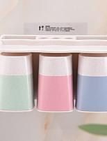 baratos -Caneca de Escova de Dentes Criativo Modern Plástico 1conjunto Escova de Dentes e Acessórios