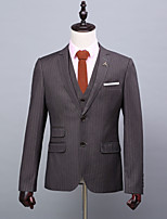 abordables -Rayé Coupe Standard Polyester Costume - Cranté Droit 2 boutons