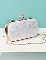 Недорогие -Жен. Мешки PU Вечерняя сумочка Блеск Черный / Розовый / Цвет радуги