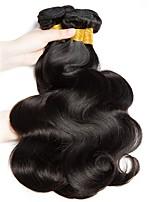 Недорогие -4 Связки Индийские волосы Естественные кудри 8A Натуральные волосы Необработанные натуральные волосы Подарки Косплей Костюмы Головные уборы 10-28 дюймовый Естественный цвет Ткет человеческих волос