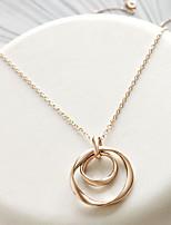 Недорогие -Жен. металлический ожерелья Однотонный