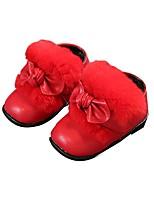 Недорогие -Девочки Обувь Искусственная кожа Зима Удобная обувь / Обувь для малышей Ботинки для Дети (1-4 лет) Коричневый / Красный / Розовый