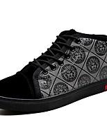Недорогие -Муж. Комфортная обувь Полиуретан Весна & осень На каждый день Кеды Дышащий Черный / Серый