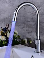 Недорогие -Ванная раковина кран - Широко распространенный / Датчик Электропокрытие Другое Руки свободно одно отверстиеBath Taps