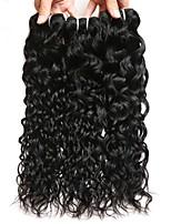 Недорогие -3 Связки Бразильские волосы Монгольские волосы Волнистые 8A Натуральные волосы Необработанные натуральные волосы Wig Accessories Подарки Косплей Костюмы 8-28 дюймовый Естественный цвет