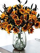 Недорогие -Искусственные Цветы 1 Филиал Односпальный комплект (Ш 150 x Д 200 см) Современный современный Вечные цветы Букеты на пол