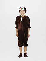 abordables -Enfant Pyjamas Kigurumi La paresse Combinaison de Pyjamas Flanelle Marron Cosplay Pour Garçons et filles Pyjamas Animale Dessin animé Fête / Célébration Les costumes