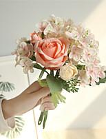 Недорогие -Искусственные Цветы 6 Филиал Классический Простой стиль Свадебные цветы Розы Гортензии Букеты на стол