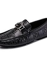 Недорогие -Муж. Кожаные ботинки Кожа Весна & осень На каждый день / Английский Мокасины и Свитер Массаж Белый / Черный / Для вечеринки / ужина