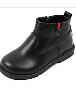 Недорогие -Девочки Обувь Кожа Осень Удобная обувь / Армейские ботинки Ботинки для Дети / Для подростков Черный