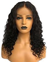 Недорогие -человеческие волосы Remy Полностью ленточные Парик Бразильские волосы Кудрявый Черный Парик Стрижка каскад 130% Плотность волос с детскими волосами Природные волосы Необработанные 100% ручная работа