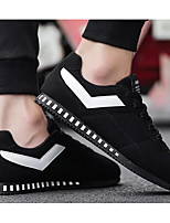 Недорогие -Муж. Комфортная обувь Полотно Весна & осень Кеды Черный / Бежевый / Серый
