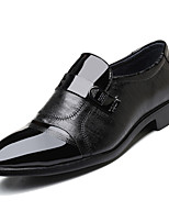 Недорогие -Муж. Официальная обувь Полиуретан Весна Деловые Мокасины и Свитер Доказательство износа Черный
