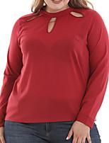Недорогие -Жен. Аппликация Блуза Классический / Уличный стиль Однотонный