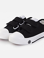 Недорогие -Мальчики / Девочки Обувь Полотно Весна & осень Удобная обувь Кеды На липучках для Дети / Для подростков Белый / Черный
