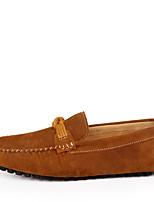 Недорогие -Муж. Комфортная обувь Замша Лето Мокасины и Свитер Темно-синий / Коричневый / Винный