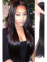 Недорогие -4 Связки Бразильские волосы Индийские волосы Прямой человеческие волосы Remy Натуральные волосы Человека ткет Волосы Пучок волос One Pack Solution 8-28 дюймовый Естественный цвет