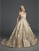 baratos -De Baile Decote Princesa Cauda Corte Paetês Brilho & Glitter Evento Formal Vestido com Lantejoulas de TS Couture®