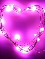 Недорогие -2м Гирлянды 20 светодиоды Розовый Декоративная Аккумуляторы AA 1 комплект