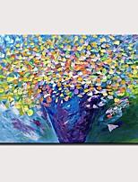 Недорогие -Hang-роспись маслом Ручная роспись - Пейзаж Цветочные мотивы / ботанический Modern Без внутренней части рамки / Рулонный холст