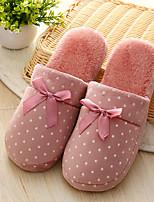 Недорогие -Женские тапочки / Мужские тапочки / Тапочки для девочек Тапочки для гостей / Домашние тапки На каждый день Терилен Бант Обувь
