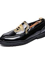 Недорогие -Муж. Комфортная обувь Полиуретан Зима На каждый день Мокасины и Свитер Нескользкий Контрастных цветов Золотой / Черный