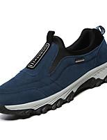 Недорогие -Муж. Комфортная обувь Замша / Полиуретан Зима На каждый день Мокасины и Свитер Нескользкий Черный / Темно-синий / Серый