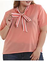 Недорогие -Жен. Блуза Классический / Уличный стиль Однотонный