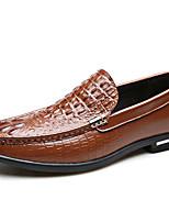 Недорогие -Муж. Кожаные ботинки Кожа Весна & осень На каждый день / Английский Мокасины и Свитер Нескользкий Черный / Коричневый