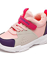 Недорогие -Девочки Обувь Искусственная кожа Зима Удобная обувь Спортивная обувь Беговая обувь для Для подростков Белый / Красный / Розовый