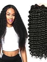 Недорогие -4 Связки Бразильские волосы Монгольские волосы Крупные кудри Не подвергавшиеся окрашиванию Косплей Костюмы Человека ткет Волосы Сувениры для чаепития 8-28 дюймовый Естественный цвет