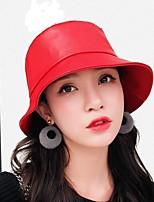 Недорогие -Жен. Классический / Праздник Вязаная шапочка / Федора / Широкополая шляпа Однотонный