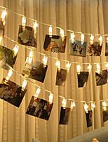Недорогие -BRELONG® 3M Гирлянды 30 светодиоды SMD 0603 Тёплый белый Водонепроницаемый / Творчество / Для вечеринок Аккумуляторы AA 1шт