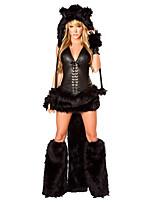 abordables -Loup femmes Chapeau Costume Femme Adulte Halloween Noël Noël Halloween Carnaval Fête / Célébration Térylène Polyester Tenue Noir Animal