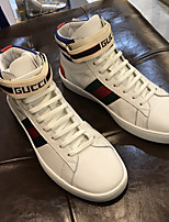 Недорогие -Муж. Комфортная обувь Полиуретан Осень Кеды Для прогулок Черный