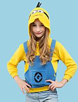 abordables -Inspiré par Cosplay Mini hommes jaunes Manga Costumes de Cosplay Cosplay à Capuche Bande dessinée Manches Longues Sweat à capuche Pour Garçon / Fille