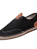Недорогие -Муж. Комфортная обувь Лён Весна На каждый день Мокасины и Свитер Дышащий Белый / Черный / Хаки