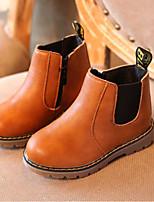 Недорогие -Мальчики / Девочки Обувь Полиуретан Весна & осень Армейские ботинки Ботинки для Дети (1-4 лет) Черный / Серый / Коричневый
