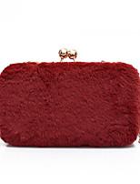 Недорогие -Жен. Мешки PU Вечерняя сумочка Пуговицы Сплошной цвет Красный / Розовый / Хаки