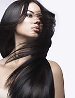 Недорогие -Натуральные волосы Лента спереди Парик Бирманские волосы Прямой Парик 130% Плотность волос Природные волосы Жен. Средняя длина Парики из натуральных волос на кружевной основе