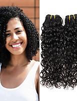 Недорогие -3 Связки Бразильские волосы Волнистые Не подвергавшиеся окрашиванию человеческие волосы Remy Головные уборы Человека ткет Волосы Сувениры для чаепития 8-28 дюймовый Естественный цвет