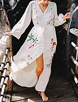 Недорогие -Жен. Белый Юбки Накидка Купальники - Геометрический принт С принтом Один размер
