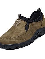 Недорогие -Муж. Комфортная обувь Замша Осень На каждый день Мокасины и Свитер Дышащий Черный / Коричневый / Зеленый