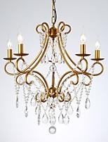 abordables -JLYLITE 5 lumières Cristal Lustre Lumière d'ambiance Finitions Peintes Métal Cristal 110-120V / 220-240V