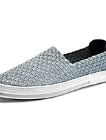 Недорогие -Муж. Комфортная обувь Полиуретан Осень Мокасины и Свитер Черный / Темно-синий / Серый