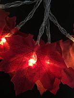baratos -3M Cordões de Luzes 20 LEDs Laranja Decorativa Baterias AA alimentadas 1conjunto