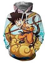 Недорогие -Вдохновлен Жемчуг дракона Son Goku Аниме Косплэй костюмы Косплей толстовки другое / Новинки / Мода Толстовка Назначение Универсальные
