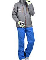 Недорогие -MARSNOW® Муж. Лыжная куртка и брюки С защитой от ветра Водонепроницаемость Теплый Отдых и Туризм Зимние виды спорта 100% хлопковая синель Наборы одежды Одежда для катания на лыжах / Зима