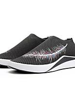 Недорогие -Муж. Комфортная обувь Полиуретан Весна На каждый день Мокасины и Свитер Дышащий Черный / Серый