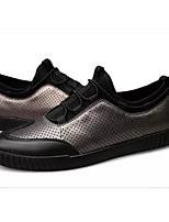 Недорогие -Муж. Комфортная обувь Наппа Leather Весна & осень Кеды Золотой / Черный